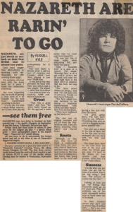 Glasgow Evening Times 11.9.81