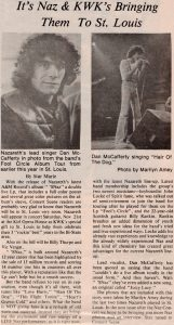 Keil Opera House, St Louis cutting re 21st November 1981