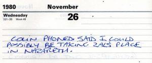 Billy's diary