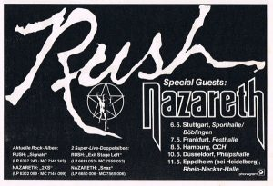 Rush German tour flyer 5.83