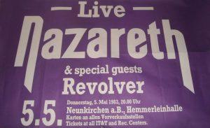 1983.05.05 Naz Hemmerleinhalle, Neunkirchen am Brand, Germany poster