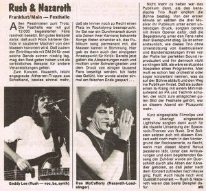 Frankfurt Festhalle review 7.5.83
