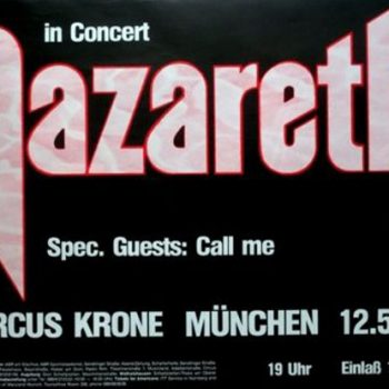 1983.05.12 Naz Circus Krone, Munich, Germany poster