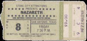 Convention Center Arena, San Antonio, TX ticket 8.5.81
