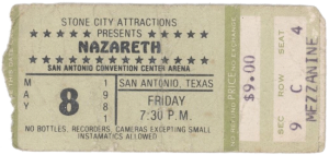 Convention Center Arena, San Antonio, TX ticket 8.5.81
