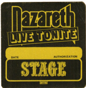 Snaz tour stage patch 81