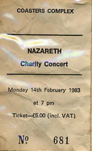 Coasters ticket 14.2.83