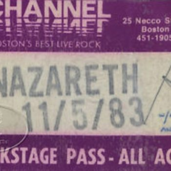 The Channel, Boston AAA pass 5.11.83