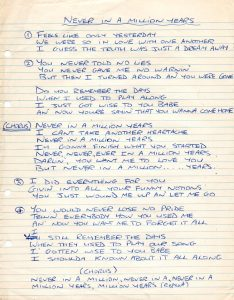Never In A Million Years lyrics