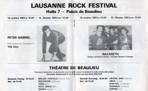 Lausanne Rock Festival advert 14-15.10.83
