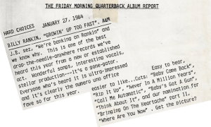 Friday Morning Quarterback 27.1.84
