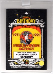 Volkhaus, Zurich security pass 11to13.4.91