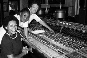 Frank Farian with Liz Mitchell and Marcia Barrett