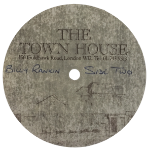 Growin' Up Too Fast acetate label 83