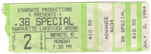 Lakeview Arena, Marquette MI ticket 2.7.84