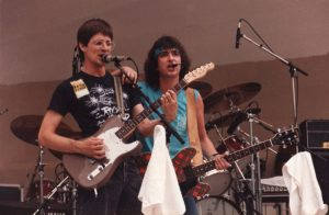 Billy with Pete McRae Rock Island Live Dayton OH 4.7.84