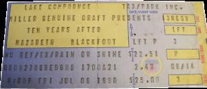 Lake Compounce, Bristol CT ticket 6.7.90