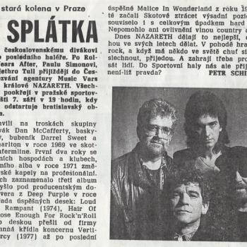 Czech Newspaper cutting 8.91
