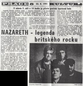 Czech Newspaper cutting 23.8.91