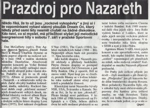 Czech Newspaper cutting 31.8.91