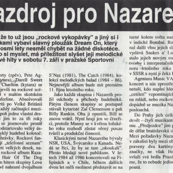 Czech Newspaper cutting 31.8.91