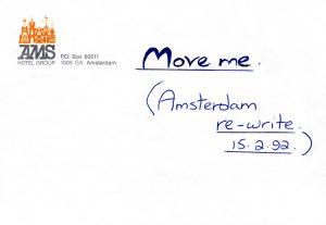 Move Me rewritten lyrics Amsterdam 15.2.92