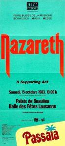 Palais de Beaulieu, Lausanne, Switzerland ticket 15.10.83