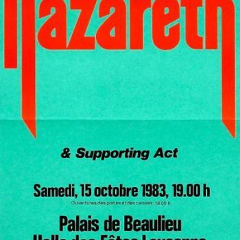 Palais de Beaulieu, Lausanne, Switzerland ticket 15.10.83