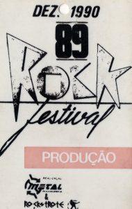 Rock Festival, Rio de Janeiro, Brazil production pass 12.12.90