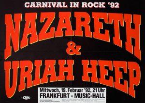 Frankfurt Music Hall poster 19.2.92