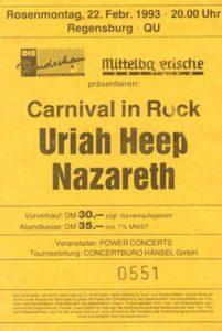 QU, Regensburg ticket 22.2.92