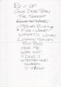 Proposed setlist for The Broons 92/93