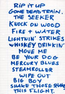 The Broons, Rocking Horse, Glasgow setlist 1.93