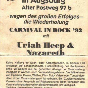 Dampfbläserhalle, Augsburg ticket 19.2.93