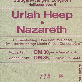 Longhorn, Stuttgart ticket 3.3.93