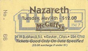 McGuffy's, Dayton OH ticket 4593