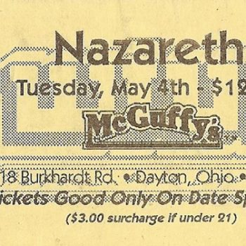 McGuffy's, Dayton OH ticket 4593