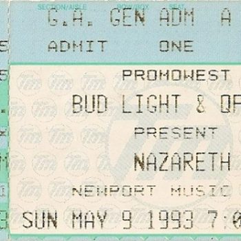 Newport Music Hall, Columbus OH ticket 9.5.93