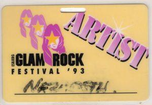 Glam Rock Festival, Esbjerg, Denmark pass 12.6.3