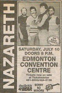 Convention Centre, Edmonton advert 10.7.93