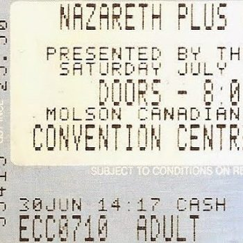 Convention Centre, Edmonton ticket 10.7.93