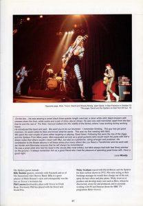 Mick Ronson Memorial Concert programme 3
