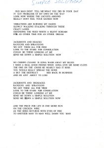 Dan's Simple Solution lyrics 94