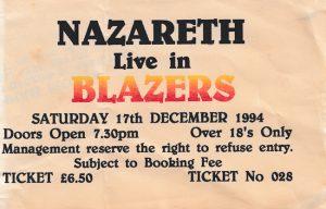 Blazers, Hamilton ticket 17.12.94