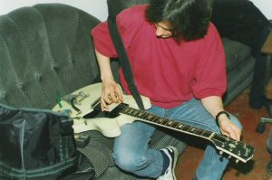 Spiders From Mars backstage 96