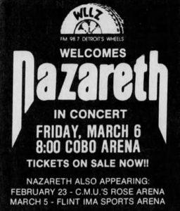 Cobo Arena, Detroit MI flyer 6.3.81