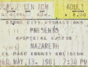 County Coliseum, El Paso, TX ticket 13.5.81