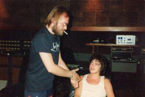 John Punter & Billy at Air Studios, Montserrat 82