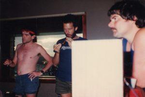 Dan, John Locke & Big Harry at Air Studios, Montserrat 82