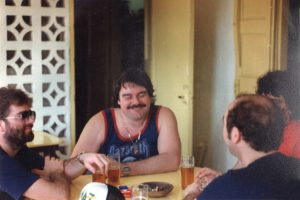 Darrell, Harry, Pete & Billy at Air Studios, Montserrat 82